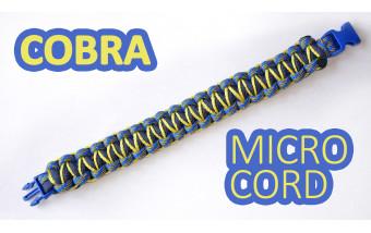 "<Браслет из паракорда ""Cobra meets microcobra"""
