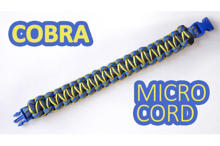 "Браслет из паракорда ""Cobra meets microcobra"""