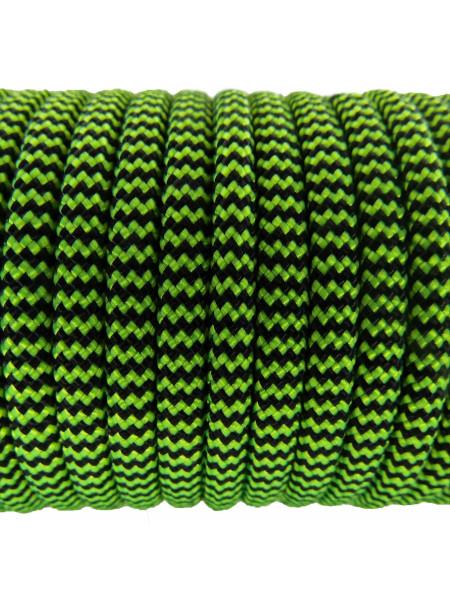 Паракорд 550 черно-яркозеленый 228