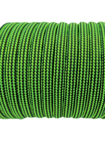 Паракорд 550 черно-яркозеленый 233